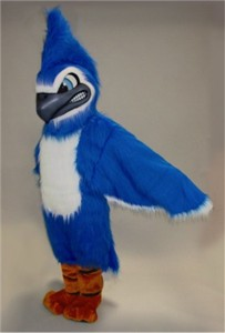 Fierce Blue Jay Mascot Costume