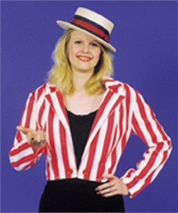 Barbershop Quartet Costume : Adult Female Barbershop Quartet Costume