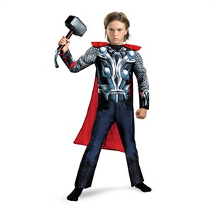 Muscle Chest Child Thor Costume