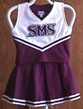 Southwest Missouri State Child Cheerleader Uniform